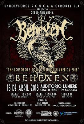 Concierto de BEHEXEN en Bogotá - 2