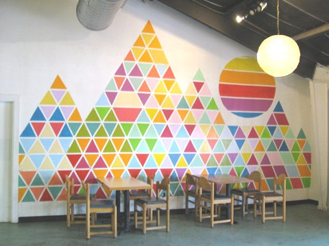 Up in the clouds inspiration geometry - Geometric wall designs with paint ...