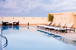 Pool at the AVANI Deira hotel, Dubai, UAE