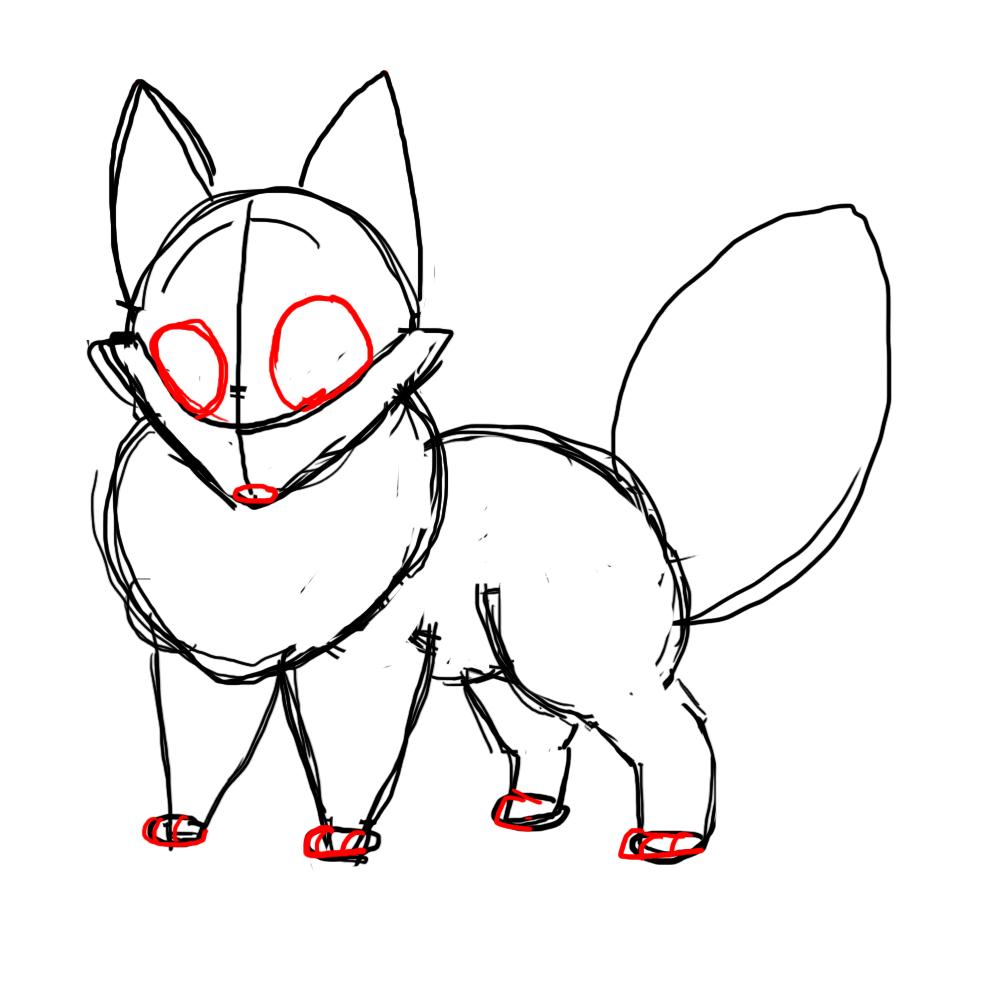 Fox Face Line Drawing : How to draw a chibi fox central