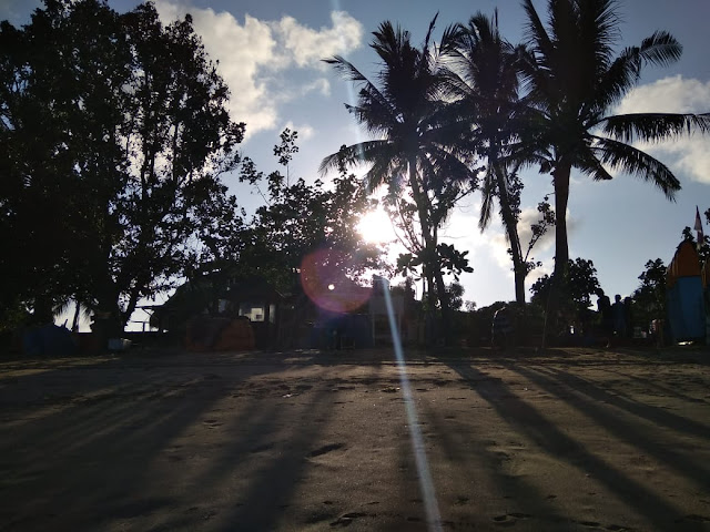 Jogging Track in the beach, you can run while feeling the soft of the sand