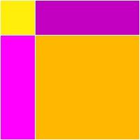 Desenho amarelo e rosa