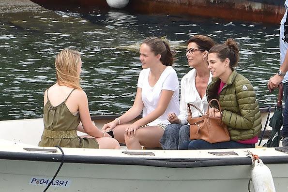 Princess Caroline of Hanover, Charlotte Casiraghi and Princess Alexandra of Hanover