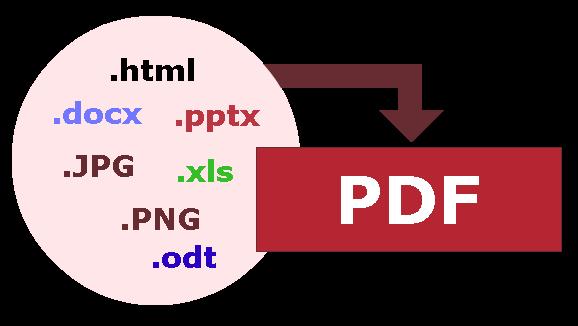 كيفية تحويل ملف الى pdf