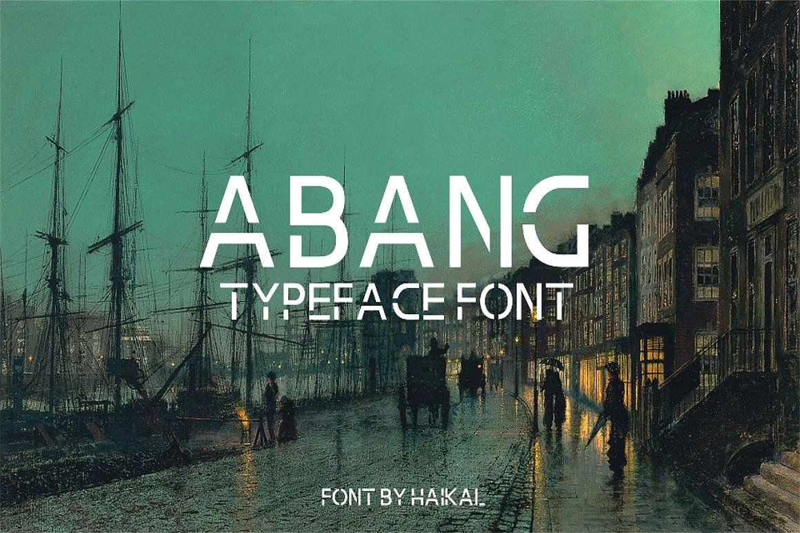 Abang Typeface Download Font Free | The Font Space | The right space