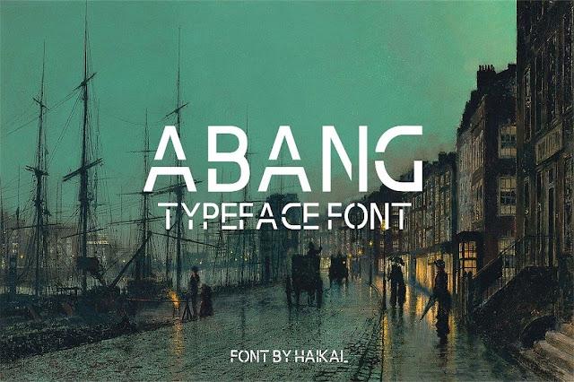 Abang Typeface Download Font Free