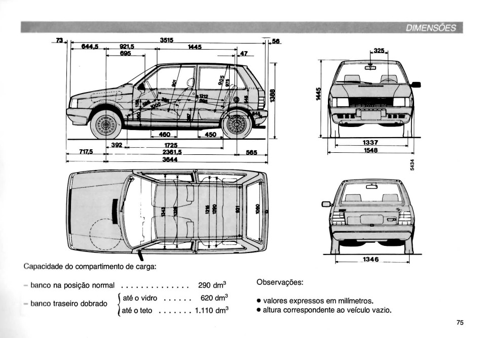 MANUAIS DO PROPRIETÁRIO: MANUAL DO FIAT UNO BRIO 1991