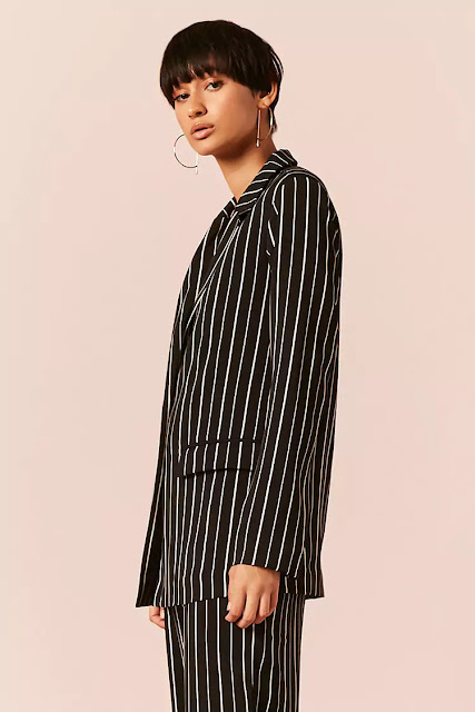 Rihanna Fashion Striped blazer outfit