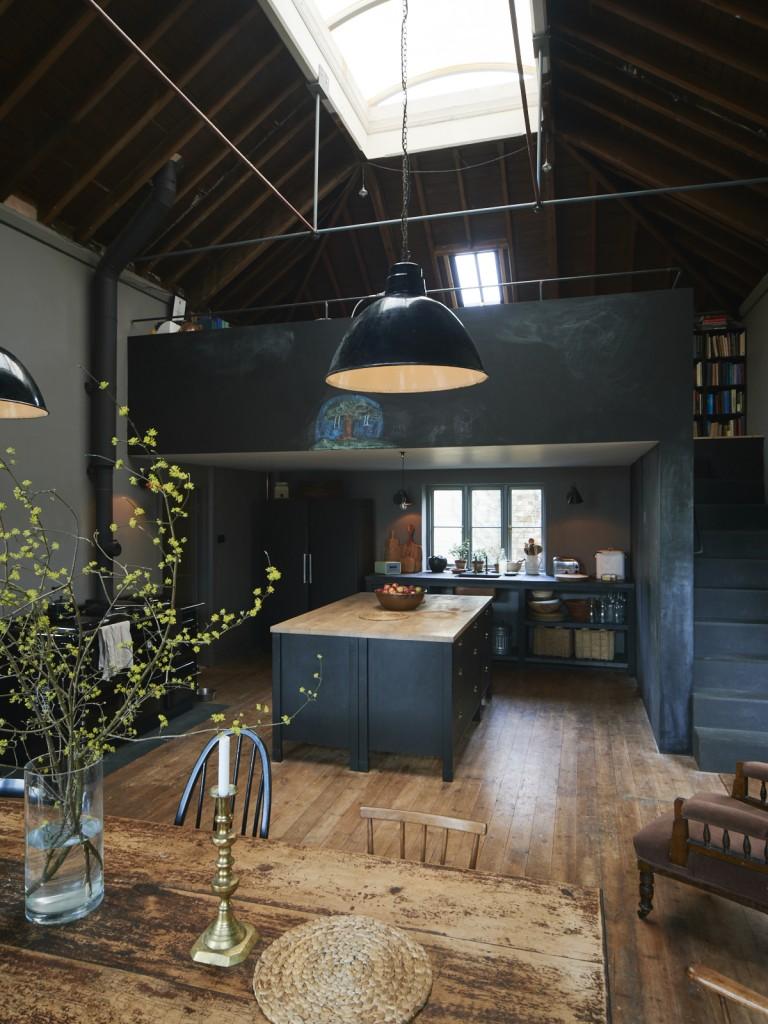 Una cocina de ensue o en tonos oscuros etxekodeco - Cocinas de ensueno ...
