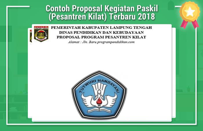 Contoh Proposal Kegiatan Paskil (Pesantren Kilat) Terbaru 2018