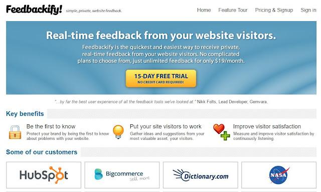 Feedbackify online feedback tool