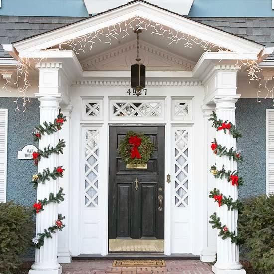 decoracin puerta navidea