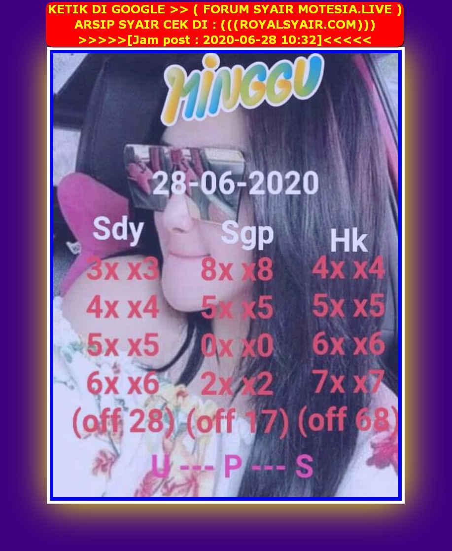 Kode syair Singapore Minggu 28 Juni 2020 60