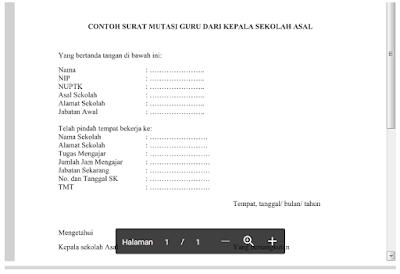 Contoh Surat Mutasi Guru Dari Kepala Sekolah Asal Format Doc