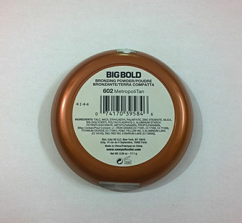 NYC Big Bold Bronzing Powder 602 MetropoliTan - Review & Swatches
