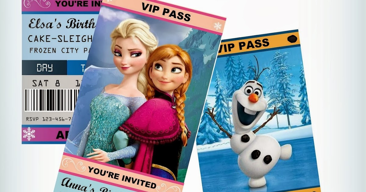 Jennuine by Rook No 17* Movie Ticket Style FROZEN Party - printable ticket invitations