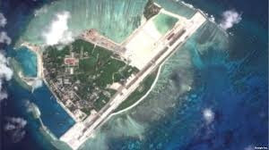 VIEW FROM SPACE: CHINA'S ISLAND BUILD-UP.