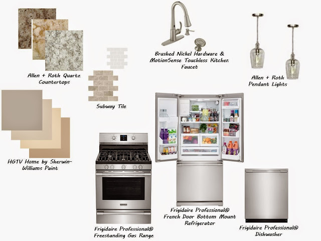Kitchen Update & Upgrade Inspiration Board with Frigidaire Professional®  Collection