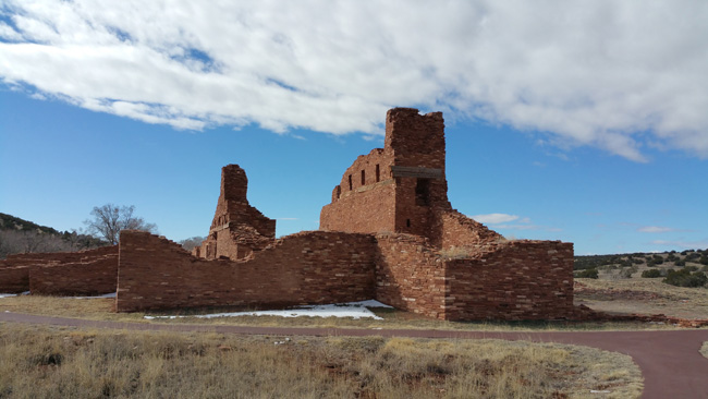 Ruins of Abo Salinas Pueblo Mission in Mountainair, New Mexico