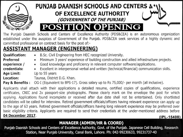 Engineering Jobs, Jobs for Civil Engineers, Jobs in Punjab