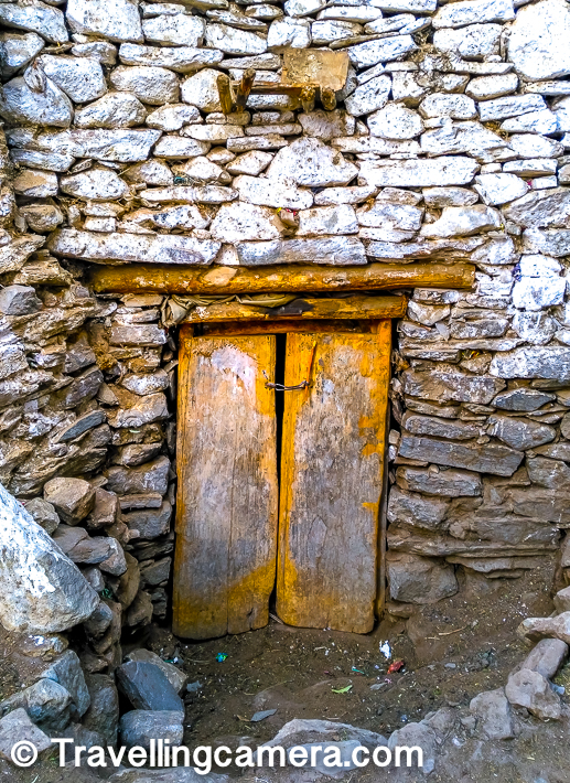 Being remote and located in such secluded place, it seemed that people of the village are pretty relaxed in terms of safety and security of their houses. We noticed lot of doors which were mainly for entrance but not locked properly.      Related Post - 500 years old Mummy of Sangha Tenzin with teeth & hair at Gue Monastery