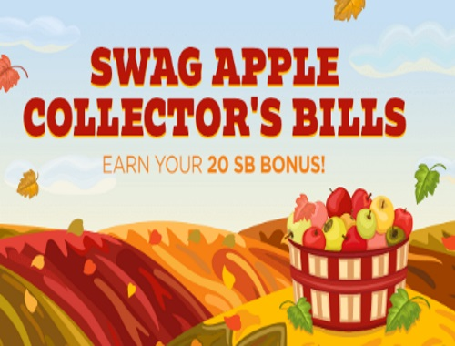 Swagbucks Swag Apple Collector's Bills Earn 20SB Bonus