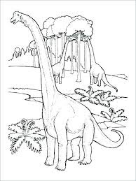 Printable Brontosaurus Coloring Pages Animals