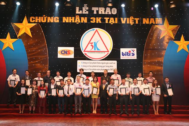 Công ty Mỹ phẩm Hoa Anh Đào vinh dự được trao chứng nhận đạt tiêu chuẩn 3K