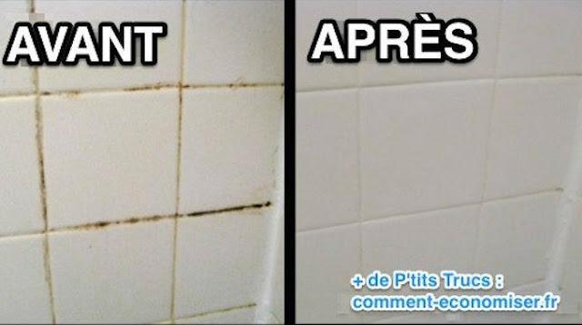 Astuces grand m re pour nettoyer vos joints de salle de - Nettoyer moisissure salle de bain ...
