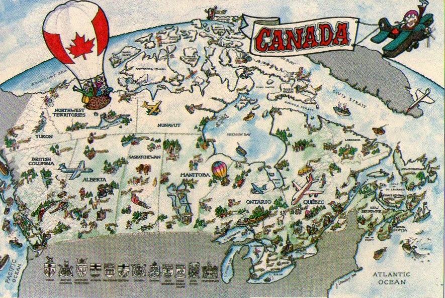 Канада карта регионов