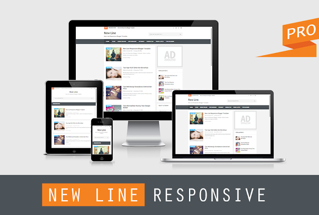 New Line Responsive Blogger Templates