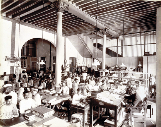 The Times of India, binding room in 1898