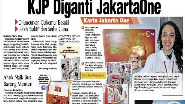 AHOK Luncurkan Kartu JakartaOne, Lebih Sakti dan Serba Guna