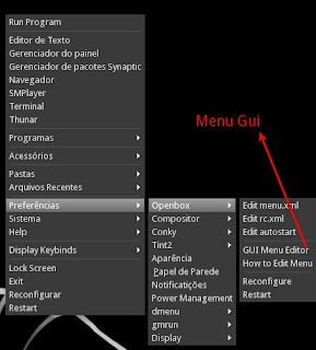 Configuração do Gui Menu Editor do Open Box