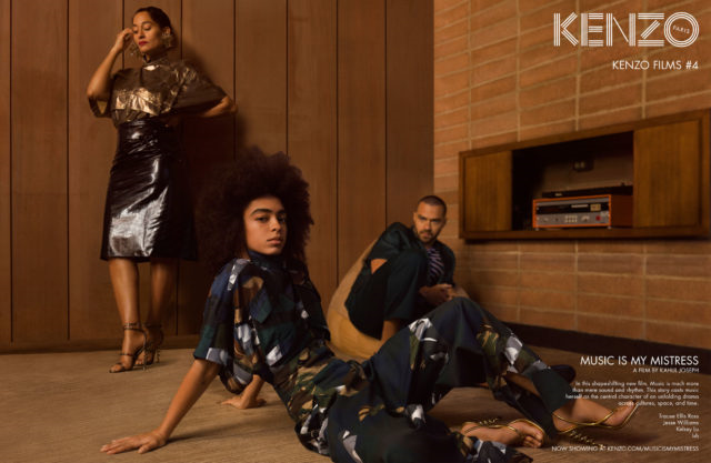 Ad Campaign: Kenzo Spring/Summer 2017 feat. Actors Tracee Ellis Ross, Jesse Williams & Singer Kelsey Lu