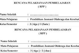 RPP PJOK Kelas 3 Kurikulum 2013 Tahun 2018
