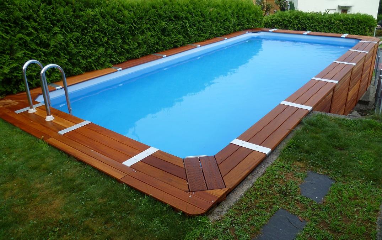 Piscine fuori terra rivestite in legno: qualità e convenienza ...
