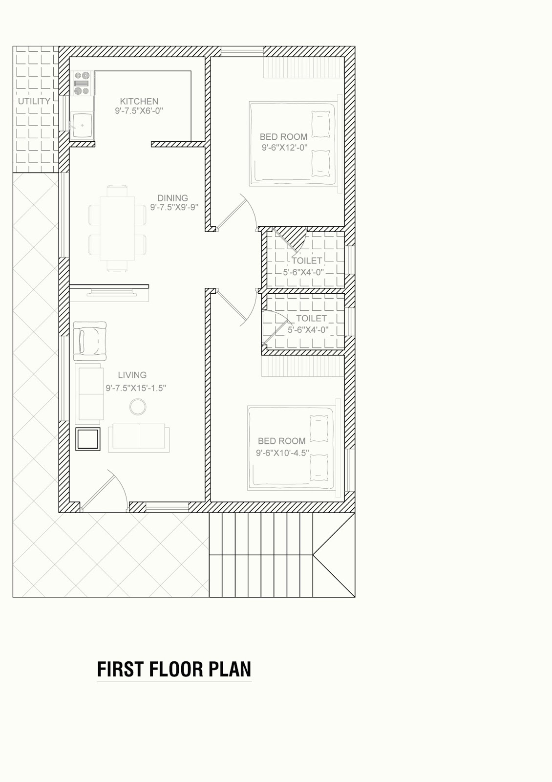 North Face Plan For House 30x40 Feet Area Home Designs Interior Decoration Ideas