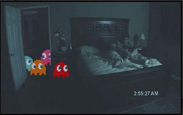 Imagen divertida de fantasmas de Pac-Man