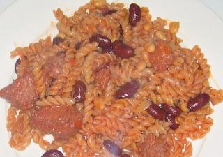 jollof macaroni with beans
