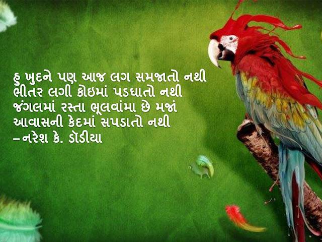हु खुदने पण आज लग समजातो नथी Gujarati Muktak By Naresh K. Dodia