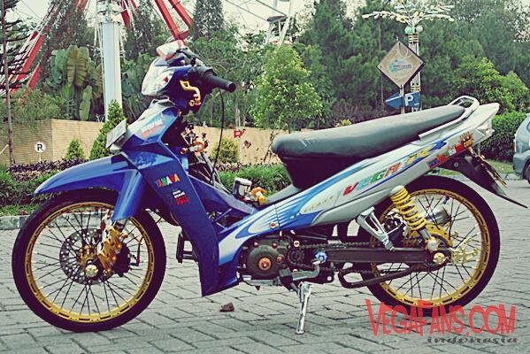 Modifikasi Vega R New Biru Putih Modif Thailook Simple
