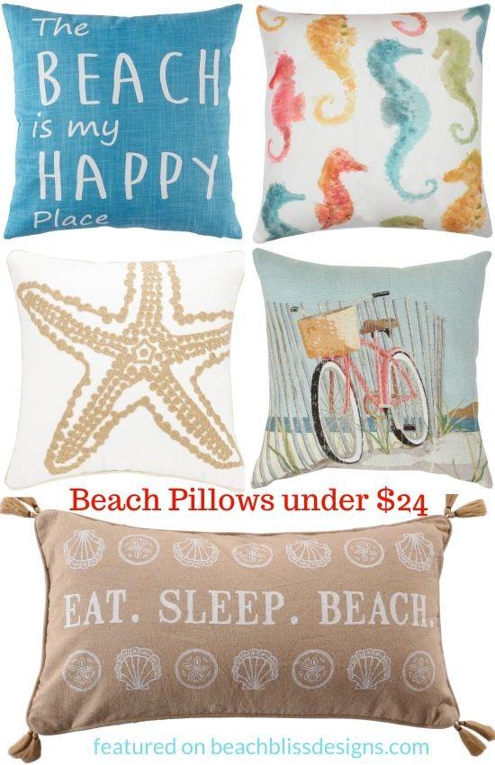 Inexpensive beach pillows under $24