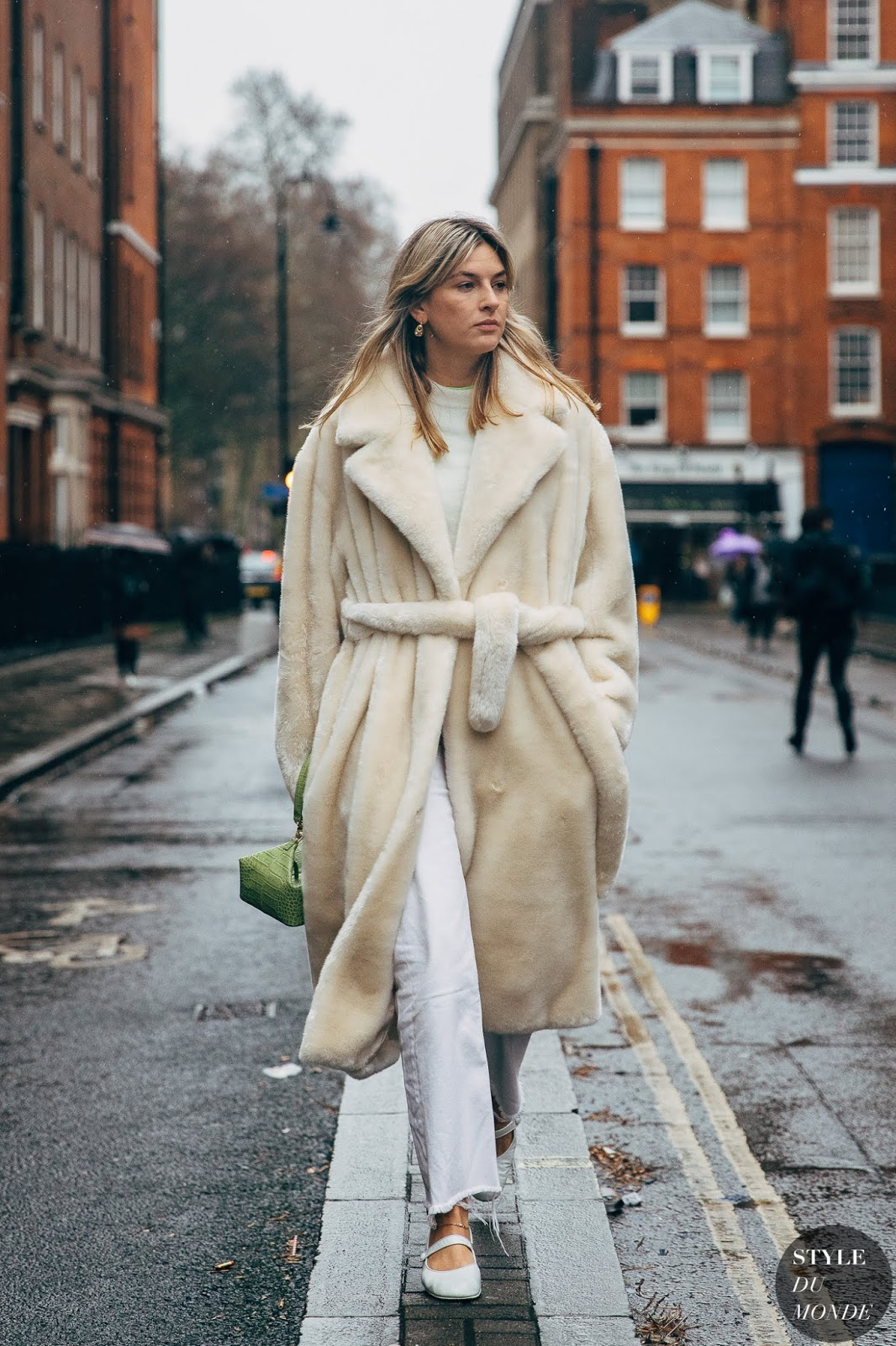 White Winter Outfit Idea — Camille Charriere London Street Style