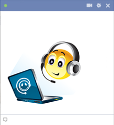 Facebook emoticon on a laptop