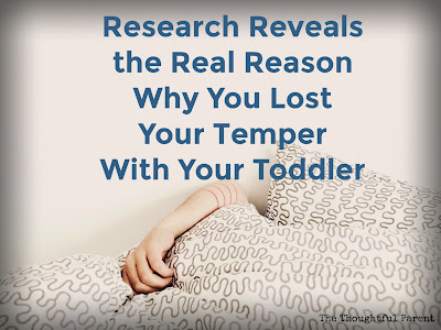 The Real Reason Why You Lost Your Temper with Your Toddler