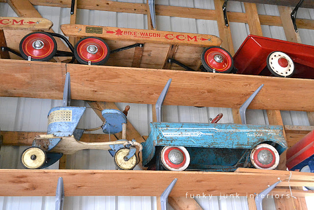 Vintage pedal go carts / Junkin' day at Granny and Grumpa's Antiques in Abbotsford, BC via FunkyJunkInteriors.net