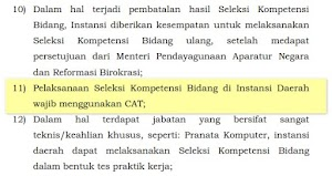 Ujian SKB CPNS Daerah Memakai CAT