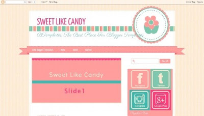 Sweet Like Candy Blogger Templates