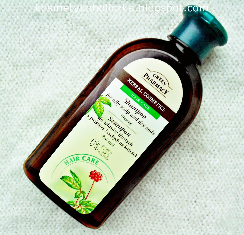 Green Pharmacy | Szampon do włosów tłustych u nasady i suchych na końcach | Żeń-szeń